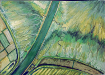 Marcelle Seabourne - Nene River Marsh - painting in watercolour